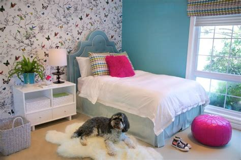 wallpaper girls bedroom beautiful wall accents ideas