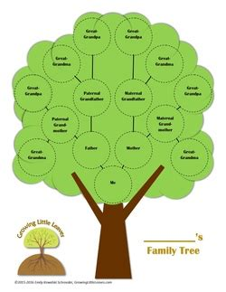 printable family tree for child printables growing little leaves genealogy for children
