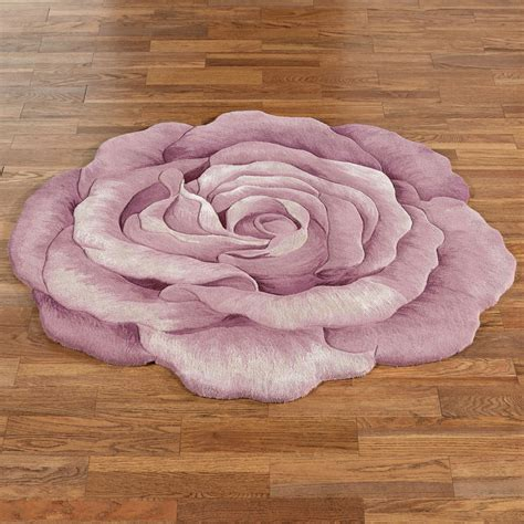 claire bloom lavender rose flower shaped rugs
