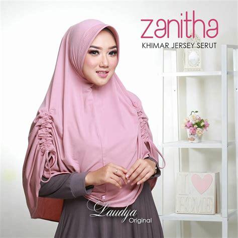 Khimar Modern Jilbab Instan Khimar Jersey Serut Zanitha Modern 2017