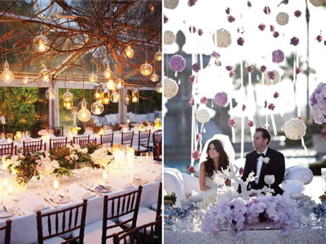 Hanging Wedding Decorations by De Lovely Affair Decor Creative Wedding Lighting Ideas