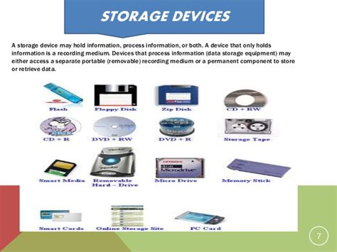 storage devices memory and storage devices