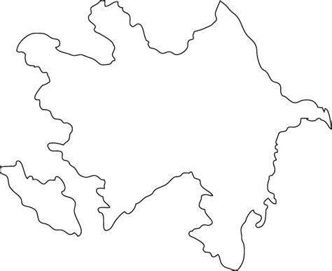 Azerbaijan Outline Map
