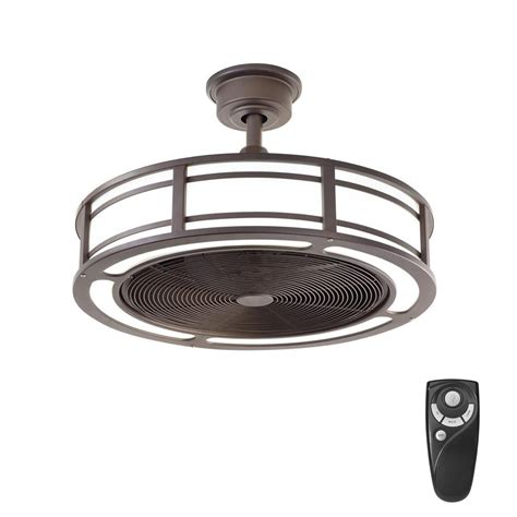 bronze outdoor ceiling fan home decorators collection brette 23 in led indoor