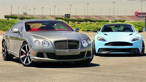Aston Martin Vs Bentley by 2014 Aston Martin Vanquish Vs 2013 Bentley Continental Gt
