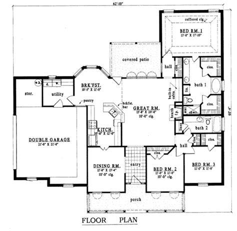 Farmhouse Style House Plan 3 Beds 2 Baths 1900 Sq Ft 1900 Farm House Plans