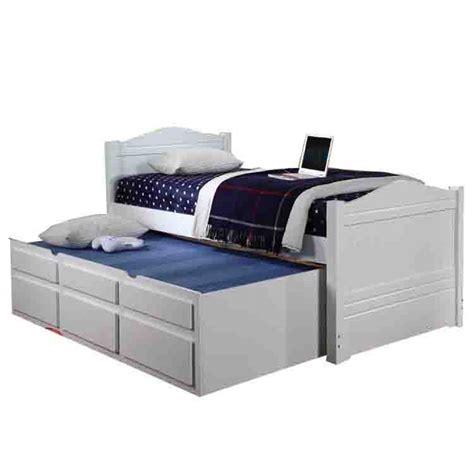 Paddington White Single Captains Bed Captains Bed White