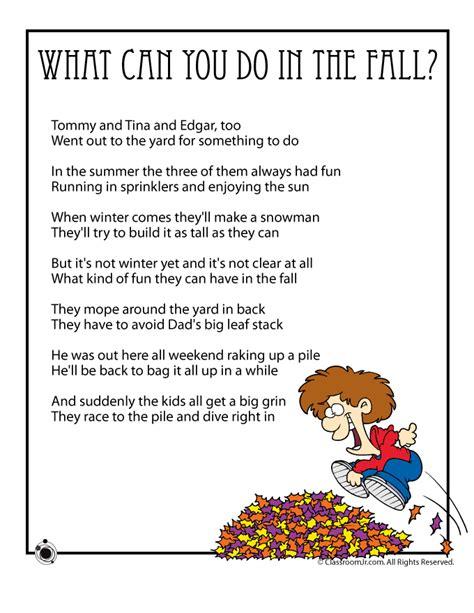 Halloween Crafts Easy - fall kids poems to print woo jr kids activities