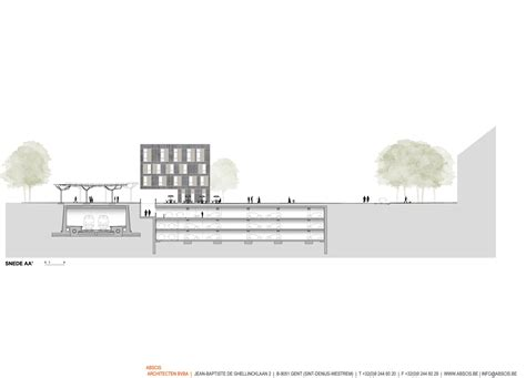 city section gallery of city square mortsel abscis architecten 10