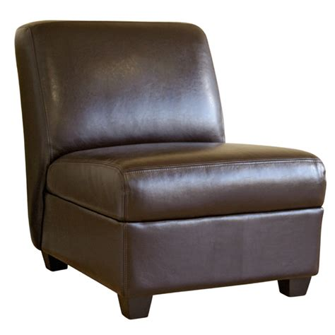 wholesale interiors leather armless club chair