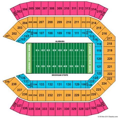 citrus bowl stadium seating map florida citrus bowl tickets and florida citrus bowl