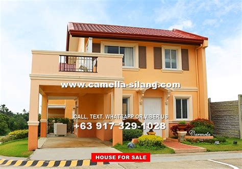 camella silang house and lot near tagaytay city camella silang tagaytay carmela house and lot for sale in