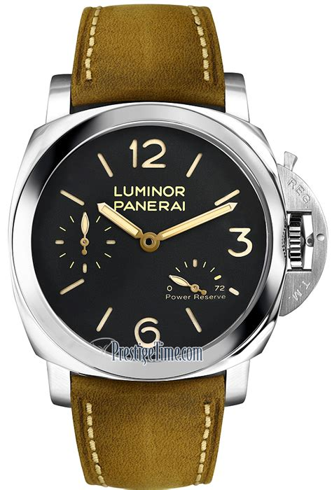 Luminor Panerai Power Reserve Silver Brown pam00423 panerai luminor 1950 3 days power reserve manual wind mens