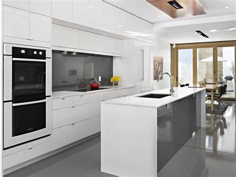 ikea white gloss kitchen cabinets contemporary kitchen colors