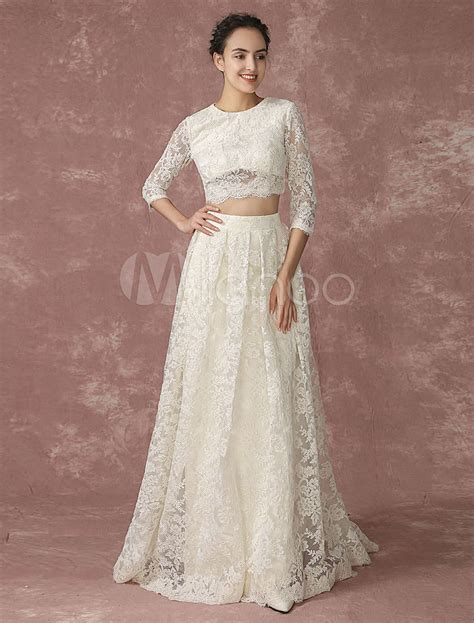 Top Wedding Dresses by Lace Gown Wedding Dress Lace Top Bridalblissonline