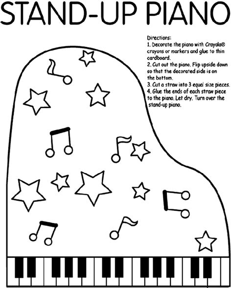 piano coloring pages stand up piano coloring page crayola