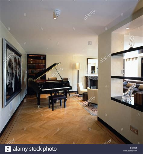 piano in living room grand piano in living room in modern city apartment with
