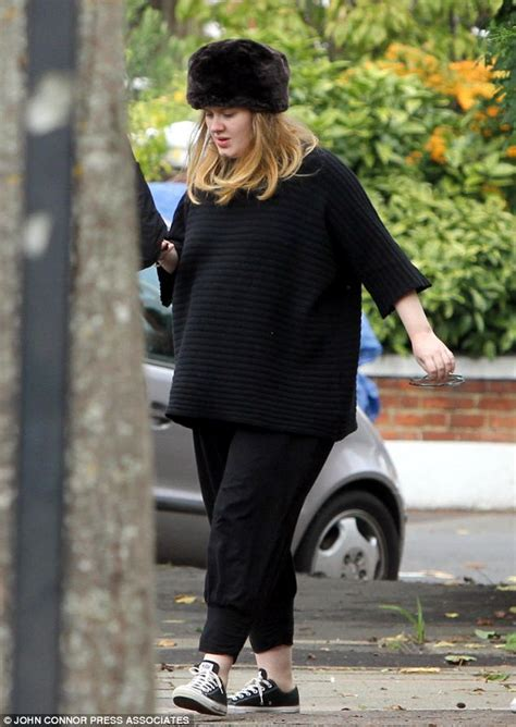 singer adele pregnant due date hot shots heavily pregnant adele steps out in sussex