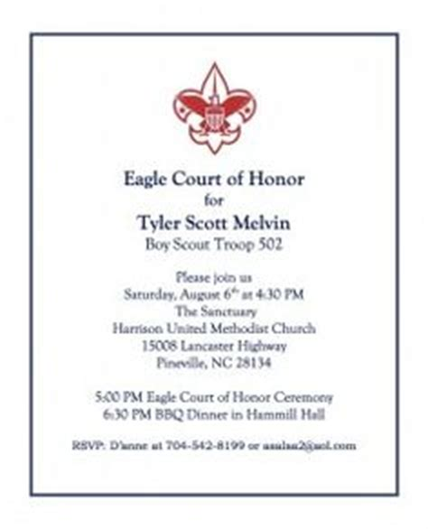 eagle scout court of honor invitation template eagle scout on eagle scout eagle scout