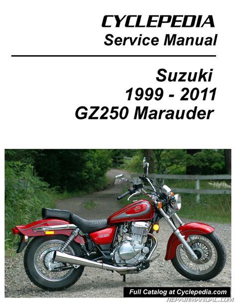 Suzuki Service Parts Suzuki Gz250 Marauder Cyclepedia Printed Service Manual