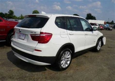 export salvage 2013 bmw x3 xdrive28i white on beige