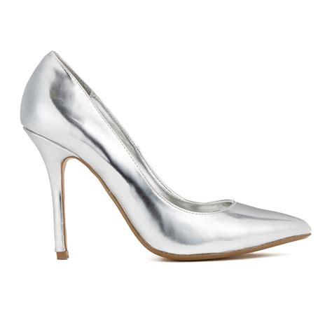 metallic silver high heels dune s burst metallic court shoes silver womens