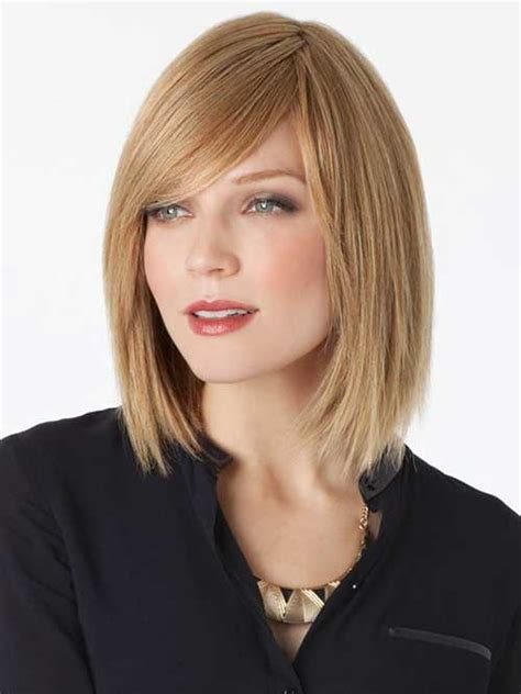 shoulder sweeping bob hair pics 15 latest long bob with side swept bangs bob hairstyles