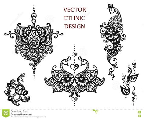 henna tattoo cartoon tattoo henna mandala set cartoon vector cartoondealer