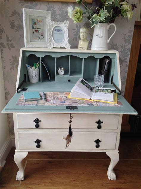 so pretty antique writing bureau shabby country chic ball and claw furniture redo pinterest