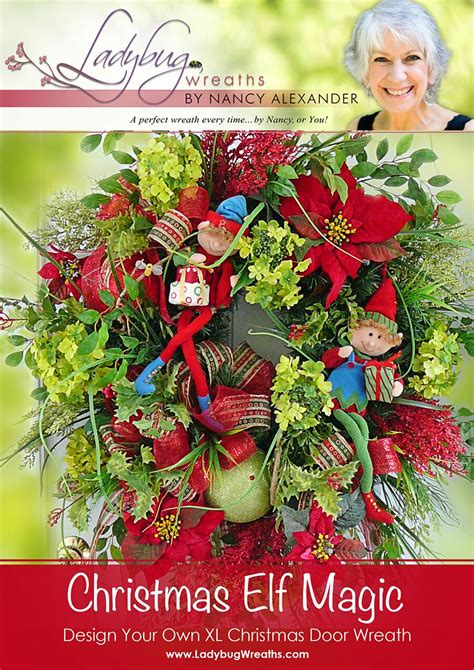 christmas elf magic door wreath ladybug wreaths by