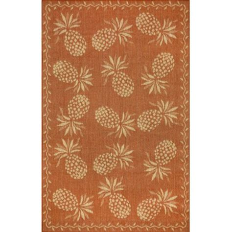 Pineapple Outdoor Rug Pineapple Indoor Outdoor Rug 5 Different Colors