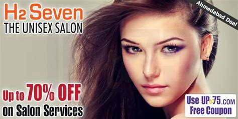 haircut coupons ahmedabad h2 seven the unisex salon ahmedabad coupons deals offers 2018