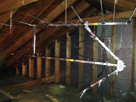 unique  attic hdtv antenna  attic tv antenna mount
