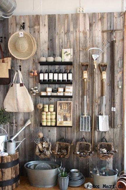 space saving ideas  organizing  garden shed