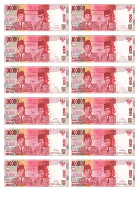 Kertas Uang Rp 100000 Uang Kertas Mainan