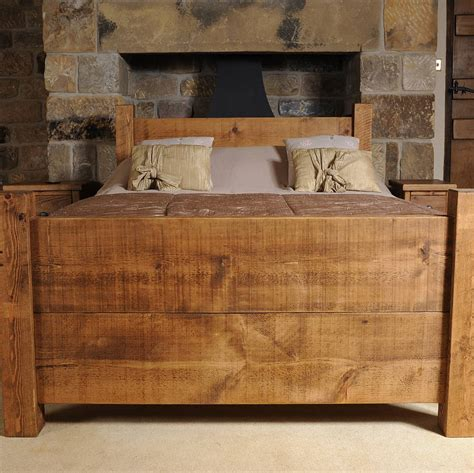 solid wood beds solid wood bed by h f notonthehighstreet com