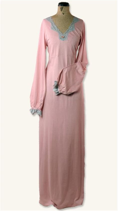Floor Length Nightgowns by Nightgown Inspired Mauve With Grey Lace