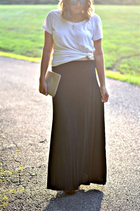 knotted a maxi skirt by m