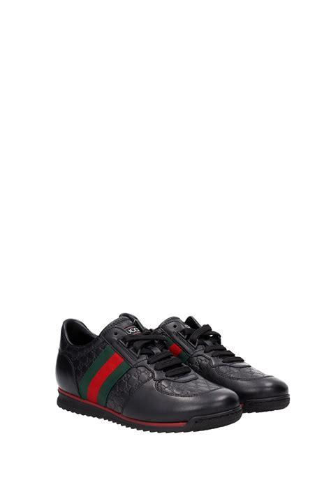 Gucci Sneakers List Black sneakers gucci leather black 408354a9la01061 ebay