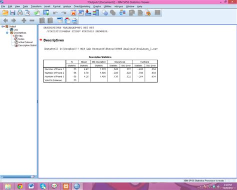 bootstrap tutorial spss descriptive statistics spss my life my dreams