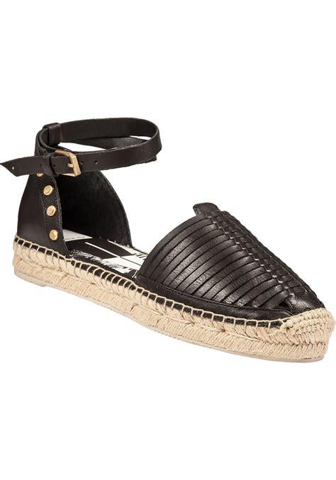 black sandal lyst dolce vita ceyla leather espadrille sandals in black
