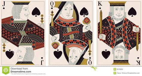 jack king queen of spades vector stock photography