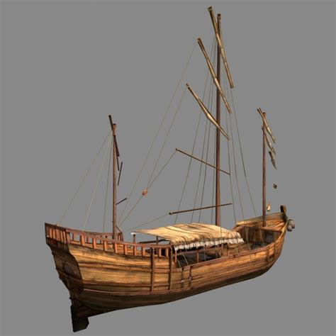 old boat models chinese old ship 02 3d model cgstudio