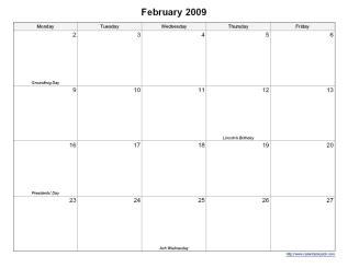printable 5 day monthly calendar calendarsquick