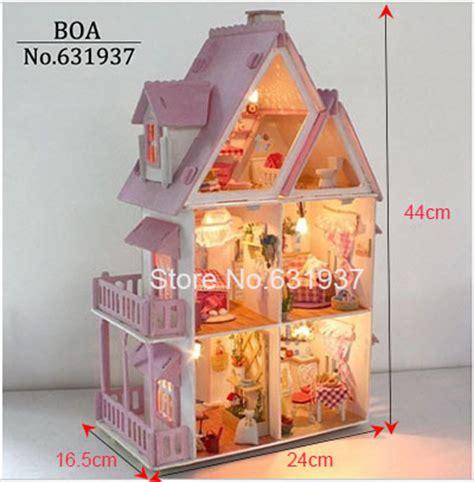 alice doll house hot sunshine alice pink diy wooden miniatura doll house furniture handmade 3d miniature