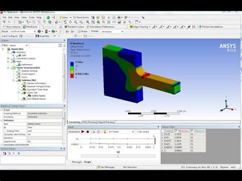 ansys section view ansys non linear stress strain cast iron tutorial static