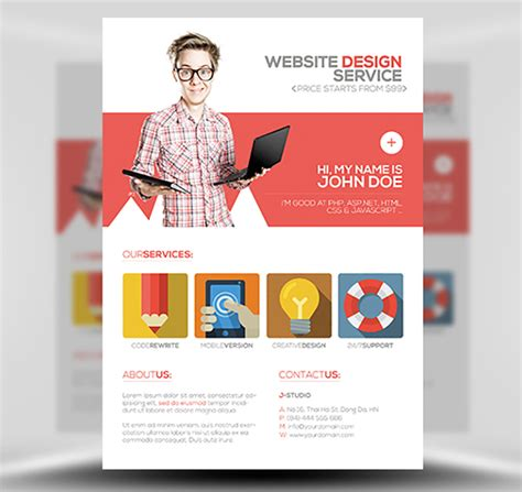 flyer design how to flat style web designer flyer template flyerheroes