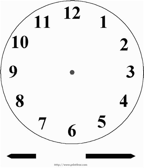 free clock template blank clock for ones to practice telling time