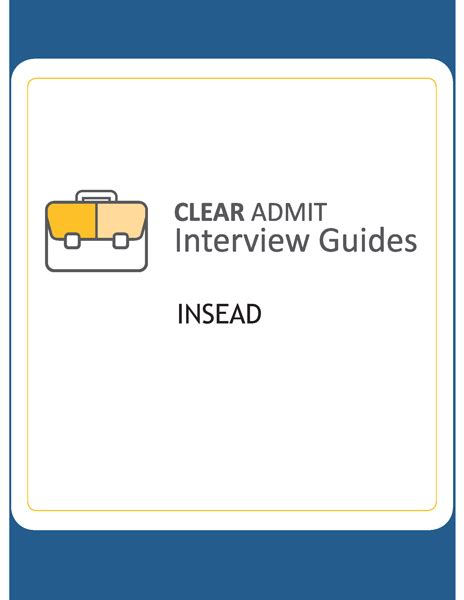 Insead Mba Questions by Guide Insead