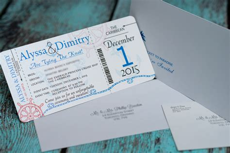 Wedding Invitation Boarding Pass by Nautical Boarding Pass Wedding Invitations For Emerald